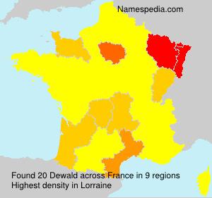 Surname Dewald in France
