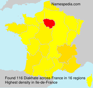 Surname Diakhate in France