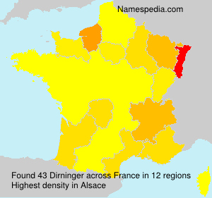 Surname Dirninger in France