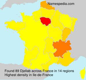 Familiennamen Djellab - France