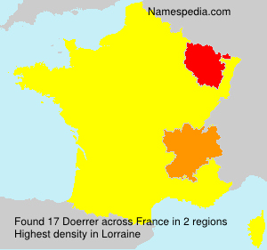 Surname Doerrer in France