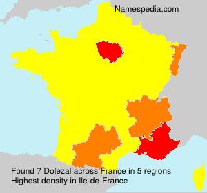 Surname Dolezal in France