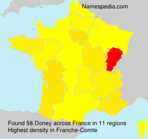 Surname Doney in France