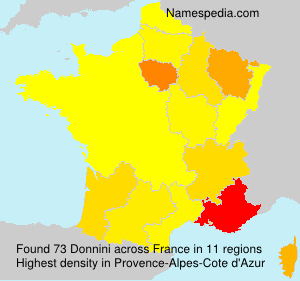 Surname Donnini in France