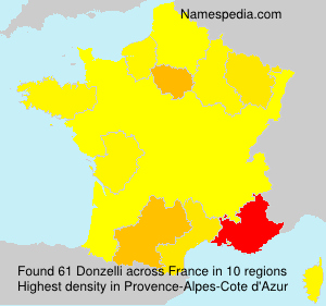 Surname Donzelli in France