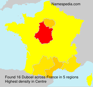 Surname Duboel in France