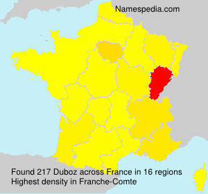 Surname Duboz in France