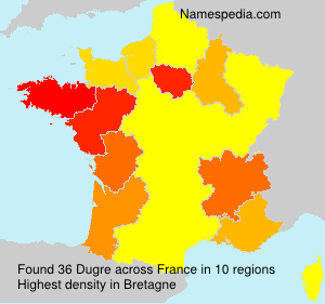 Surname Dugre in France