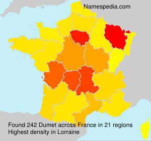 Surname Dumet in France