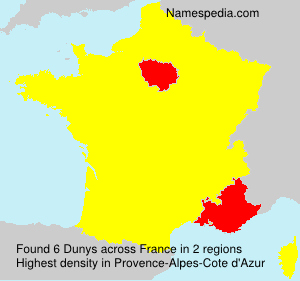 Surname Dunys in France