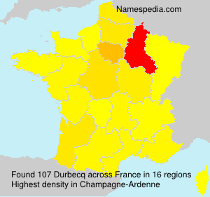 Surname Durbecq in France