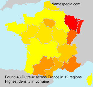 Surname Dutreux in France