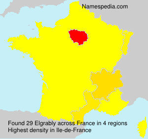 Surname Elgrably in France