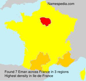 Surname Eman in France