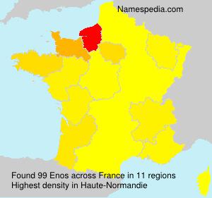 Familiennamen Enos - France
