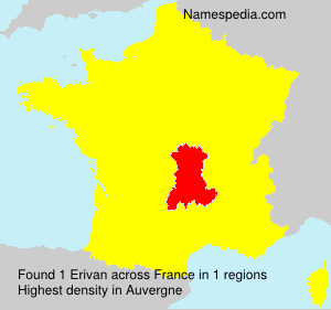 Surname Erivan in France