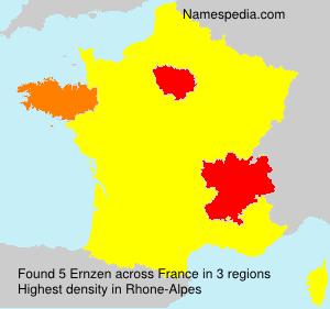 Surname Ernzen in France