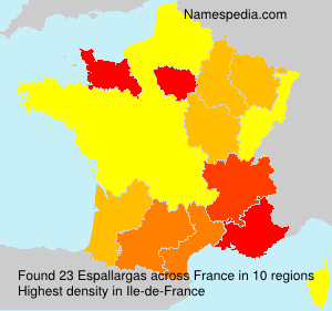Surname Espallargas in France