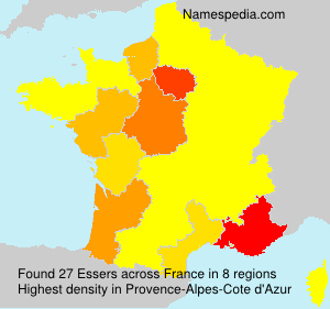 Surname Essers in France