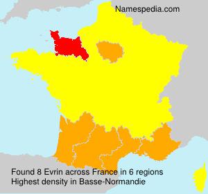 Familiennamen Evrin - France