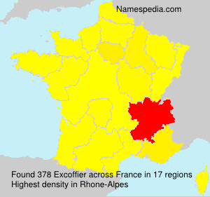 Surname Excoffier in France
