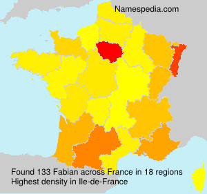 Surname Fabian in France