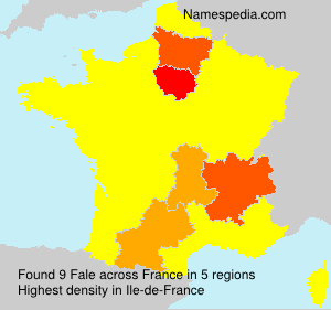 Surname Fale in France