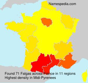 Surname Falgas in France