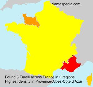 Familiennamen Faralli - France