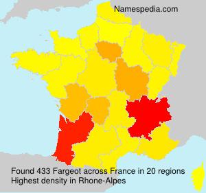 Surname Fargeot in France