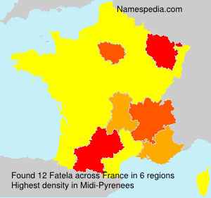 Surname Fatela in France