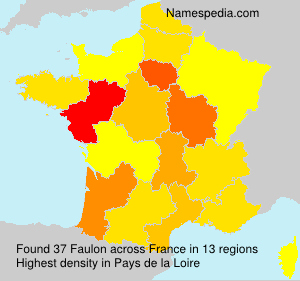 Surname Faulon in France