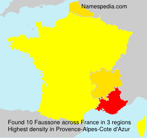 Surname Faussone in France