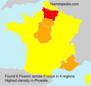 Surname Fearon in France
