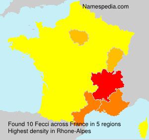 Surname Fecci in France