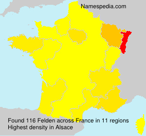 Surname Felden in France