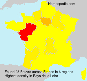 Surname Feuvre in France