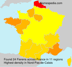 Surname Fierens in France