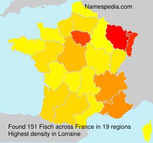 Familiennamen Fisch - France