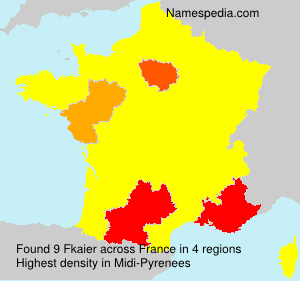 Surname Fkaier in France
