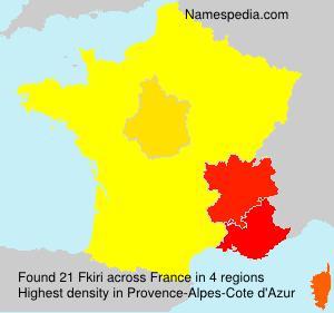 Surname Fkiri in France