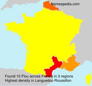 Surname Flou in France