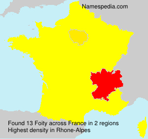 Surname Foity in France
