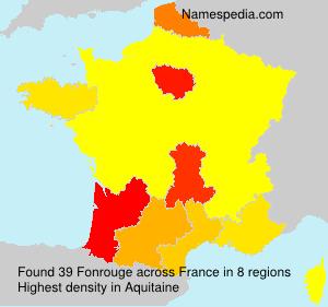 Surname Fonrouge in France