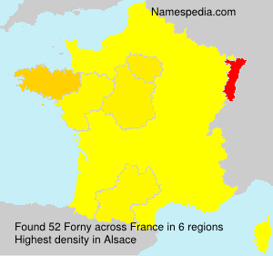 Surname Forny in France