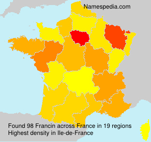 Surname Francin in France
