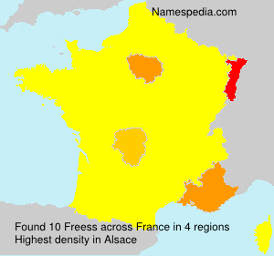 Surname Freess in France
