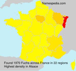 Familiennamen Fuchs - France