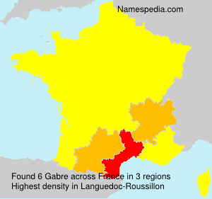 Familiennamen Gabre - France
