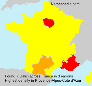 Surname Galici in France